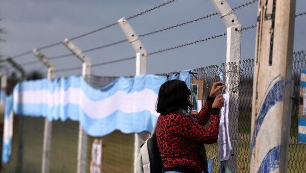 La bandera de Argentina en la Base Naval tras la desaparición del submarino ARA San Juan - Sputnik Mundo