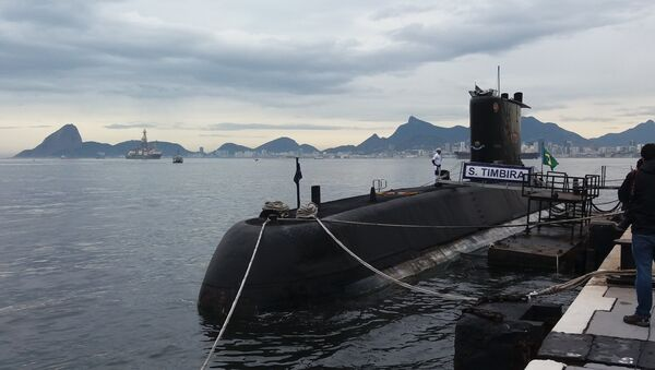 Un submarino de la Armada de Brasil (archivo) - Sputnik Mundo