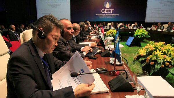 Ministros de países productores de gas - Sputnik Mundo