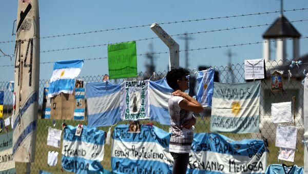Carteles en apoyo a los 44 tripulantes del ARA San Juan - Sputnik Mundo
