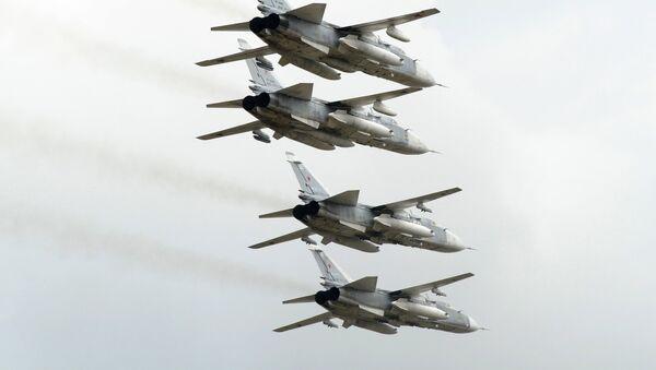 Bombarderos rusos Su-24 (archivo) - Sputnik Mundo
