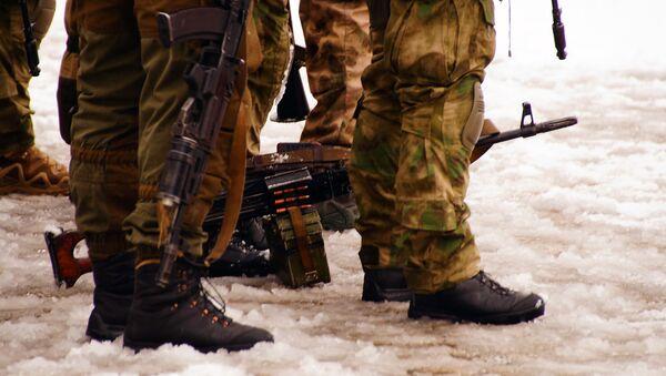 Servicios de seguridad en Lugansk, Ucrania (imagen referencial) - Sputnik Mundo