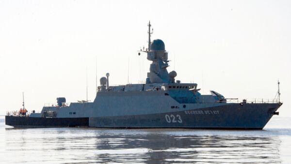 Maniobras militares en el mar Caspio, archivo - Sputnik Mundo