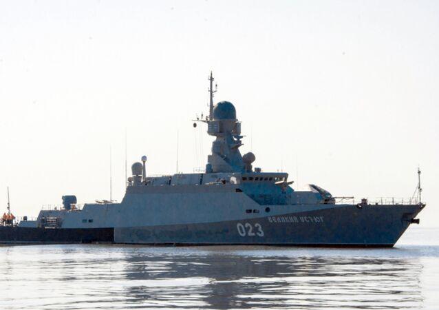 Maniobras militares en el mar Caspio (archivo)