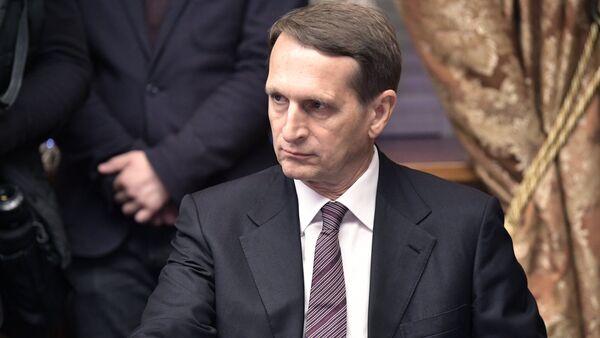 Serguéi Narishkin, director del Servicio Exterior de Inteligencia - Sputnik Mundo