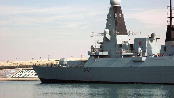 HMS Diamond, destructor de la Marina Real británica - Sputnik Mundo