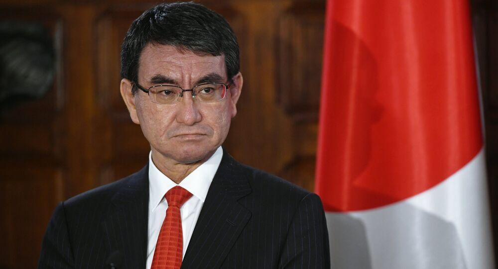 Taro Kono, ministro de Defensa de Japón