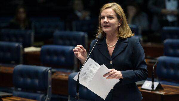Gleisi Hoffman, la presidenta del Partido de los Trabajadores - Sputnik Mundo