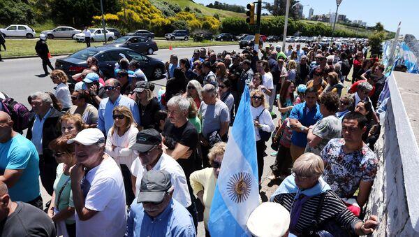 Demostración en apoyo a los familiares de los tripulantes de ARA San Juan - Sputnik Mundo
