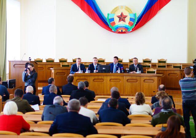 El Consejo Popular de la República de Lugansk (archivo)