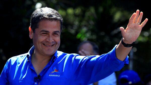 El mandatario hondureño Juan Orlando Hernández (archivo) - Sputnik Mundo