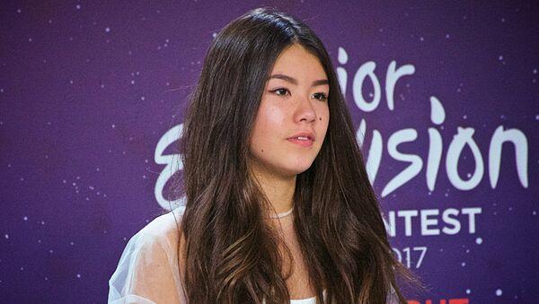 La cantante rusa Polina Bogusevich que ganó la final del concurso Junior Eurovision Song Contest-2017 en Tiflis - Sputnik Mundo
