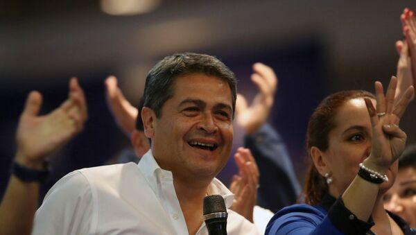 Juan Orlando Hernández, presidente de Honduras (archivo) - Sputnik Mundo