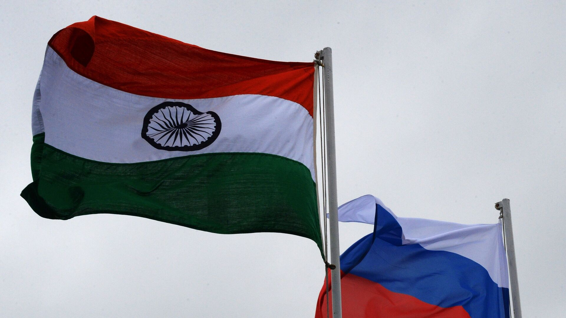 Las banderas de la India y Rusia - Sputnik Mundo, 1920, 02.03.2021