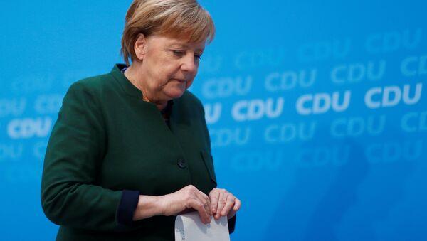 Angela Merkel, la canciller federal alemana - Sputnik Mundo