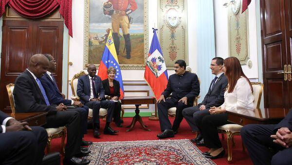 Presidente de Haití, Jovenel Moïse, y presidente de Venezuela, Nicolás Maduro - Sputnik Mundo