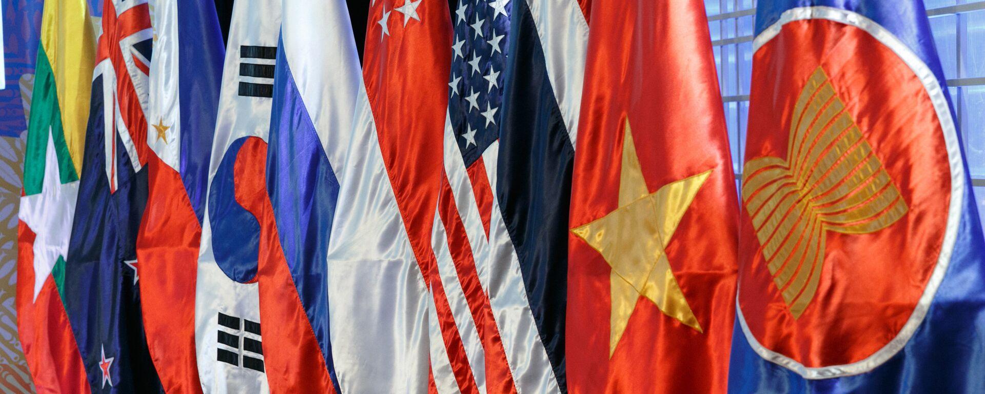 Las banderas de los países miembros de la ASEAN - Sputnik Mundo, 1920, 28.06.2021