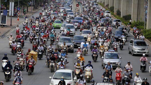 Motos en Hanói, Vietnam - Sputnik Mundo