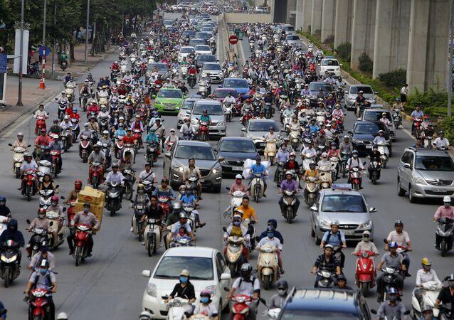 Motos en Hanói, Vietnam