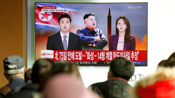 Las noticias sobre el lanzamiento del misil Hwasong-15 por Corea del Norte - Sputnik Mundo