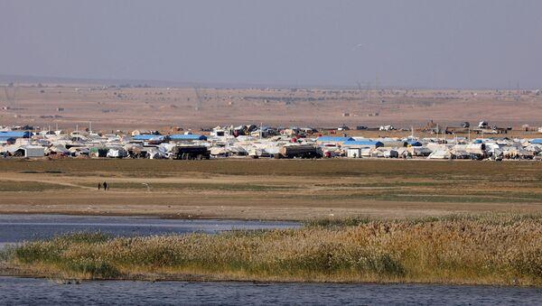 Un campo de refugiados en Siria (imagen referencial) - Sputnik Mundo