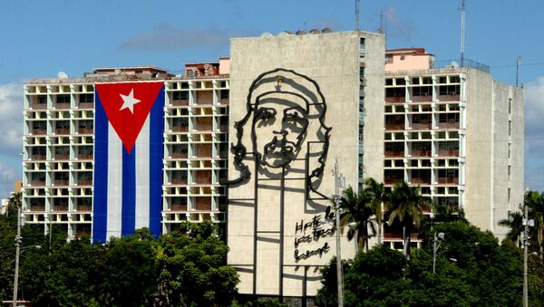 Bandera cubana en La Habana, capital de Cuba - Sputnik Mundo