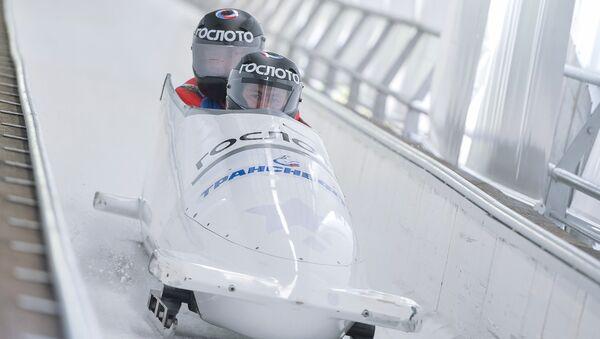 Un entrenamiento de los atletas de bobsleigh rusos - Sputnik Mundo