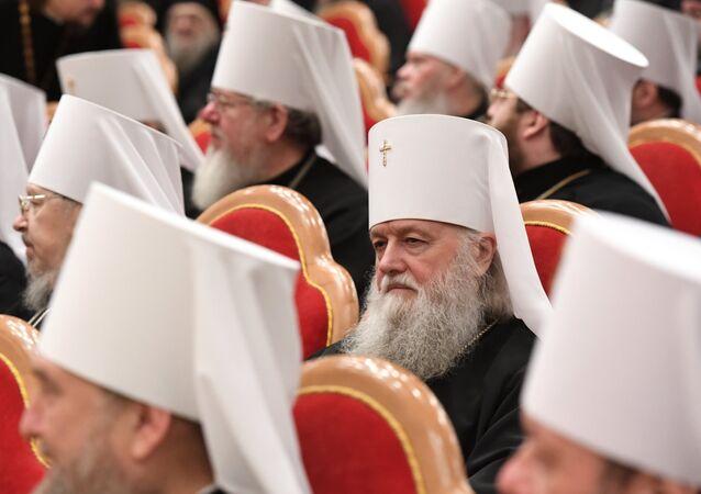 Los representantes de las iglesias ortodoxas de las regiones de Rusia en la Catedral de Cristo Salvador