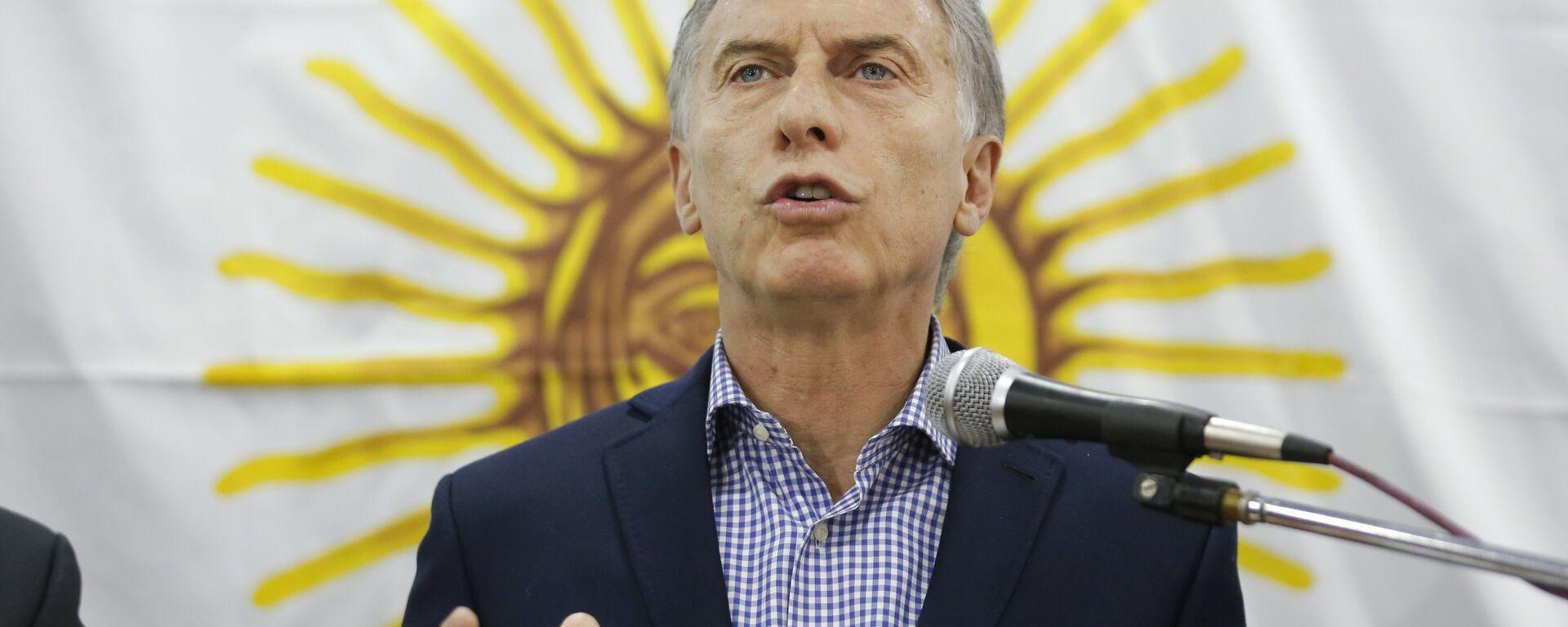 Mauricio Macri, presidente de Argentina - Sputnik Mundo, 1920, 13.07.2021