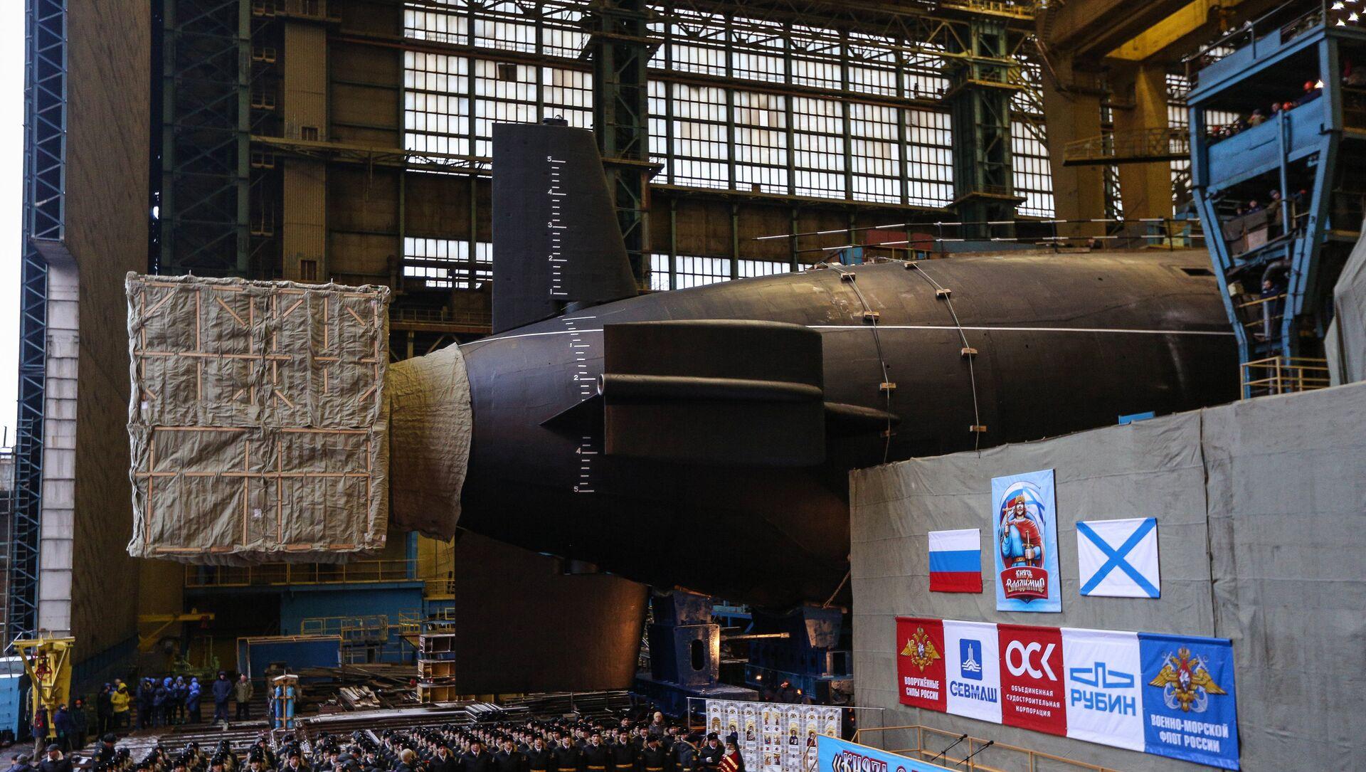 Botadura del submarino nuclear ruso Knyaz Vladimir - Sputnik Mundo, 1920, 21.05.2020