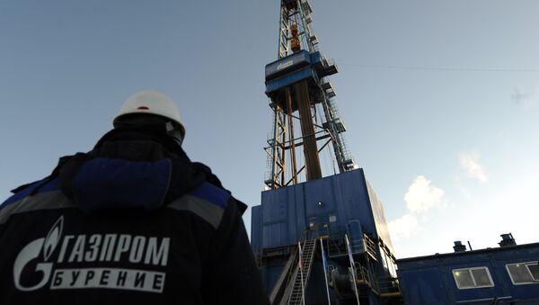 Una de las plataforma de perforación de gas de Gazprom - Sputnik Mundo