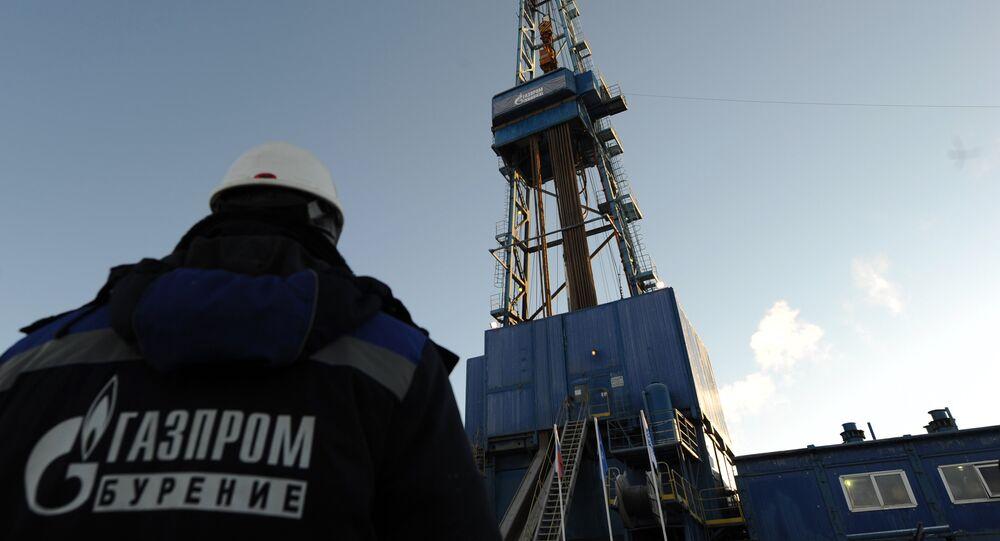 Una de las plataformas de perforación de gas de Gazprom