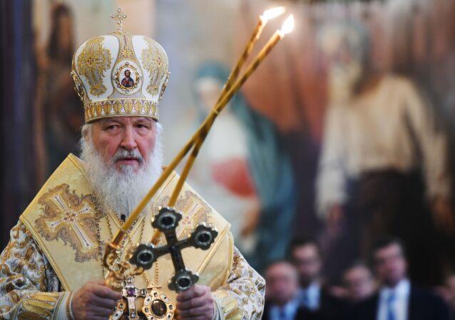 El patriarca de la Iglesia ortodoxa rusa Kiril (archivo)