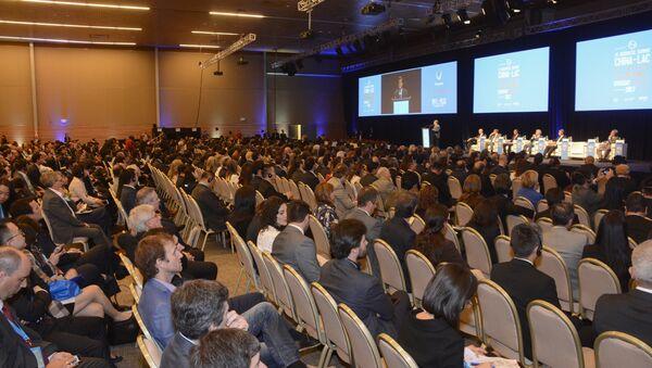 La sesión inaugural de la XI Cumbre China-LAC (América Latina y el Caribe) que se celebra en Punta del Este, sudeste de Uruguay - Sputnik Mundo