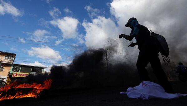 Protestas en Honduras - Sputnik Mundo