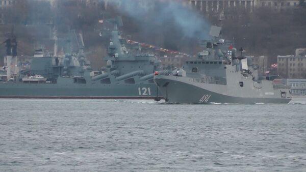 La fragata rusa Almirante Grigorovich vuelve al Mediterráneo - Sputnik Mundo