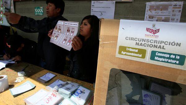 Elecciones judiciales en Bolivia - Sputnik Mundo