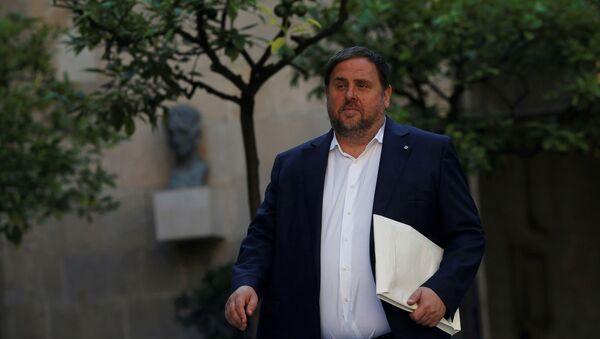 Oriol Junqueras, el vicepresidente cesado de Cataluña (archivo) - Sputnik Mundo