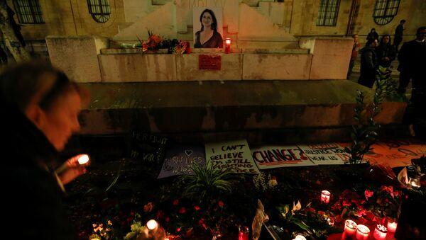 Homenaje a la periodista asesinada Daphne Caruana Galizia - Sputnik Mundo