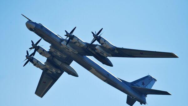 Bombardero estratégico ruso Tu-95MS - Sputnik Mundo