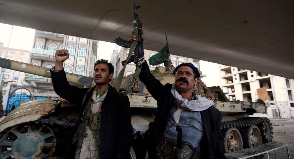 Los seguidores de los rebeldes hutíes en Yemen