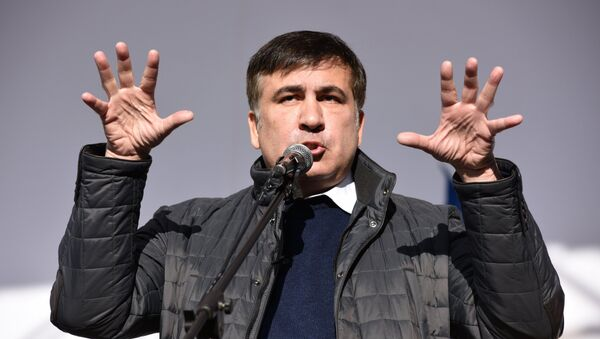 Mijaíl Saakashvili, expresidente de Georgia y exgobernador de la región ucraniana de Odesa en Kiev - Sputnik Mundo