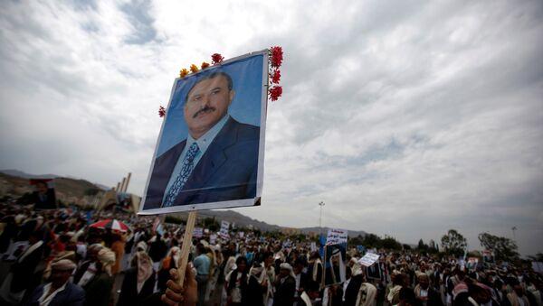 Los partidarios del expresidente de Yemen, Alí Abdalá Salé (archivo) - Sputnik Mundo