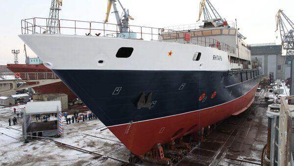 El buque oceanográfico Yantar (archivo) - Sputnik Mundo