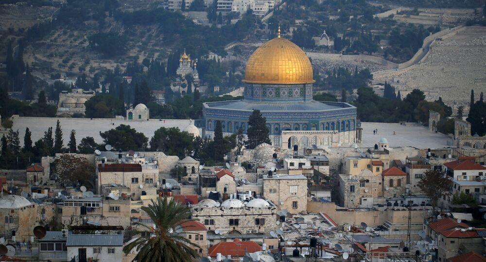 Domo de la Roca en la Explanada de las Mezquitas, Jerusalén