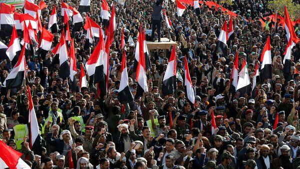 Los rebeldes hutíes celebran la muerte del expresidente de Yemen, Alí Abdalá Salé - Sputnik Mundo