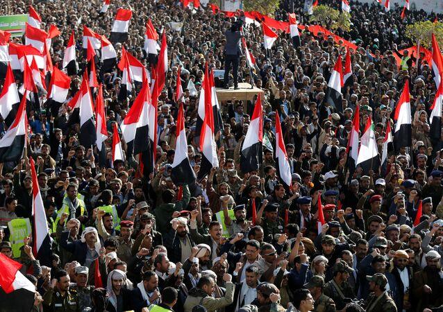 Los rebeldes hutíes celebran la muerte del expresidente de Yemen, Alí Abdalá Salé (archivo)