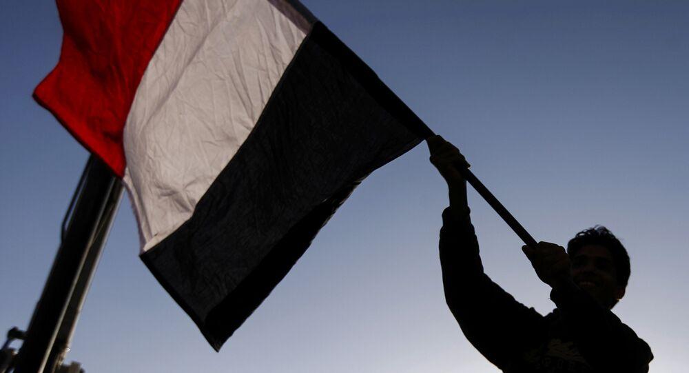 La bandera de Yemen