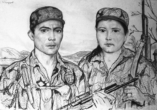 Una de las obras del pintor ruso Iliá Glazunov decicadas a Nicaragua