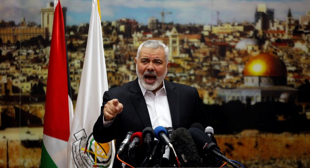 Ismail Haniyeh, líder del movimiento Hamás